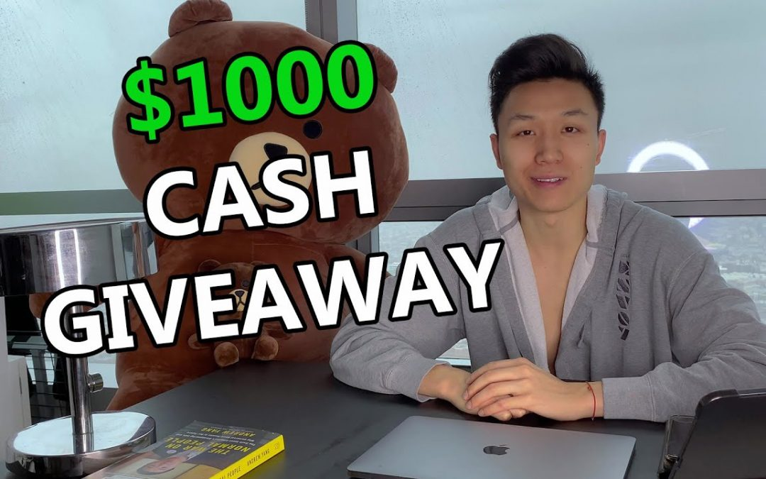 $1,000 CASH GIVEAWAY (EVERY MONTH!)